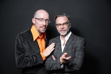 Thomas Jäkel und Dirk Lausch, Lesung trifft Impro / Foto: Viviane Wild